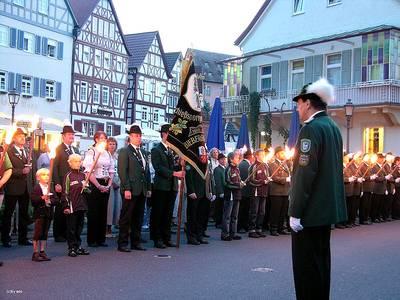 Großer Zapfenstreich des Schützenvereins Bad Orb