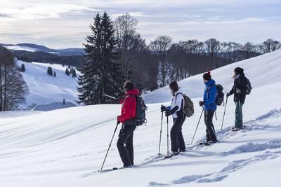 Schneeschuhwanderung. (© Hochschwarzwald Tourismus GmbH)