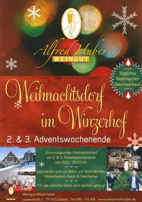 Weihnachtsdorf im Winzerhof Huber
