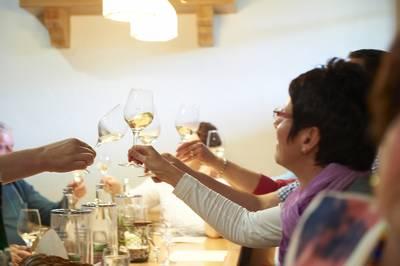 Weinprobe im Weingut Alfred Huber