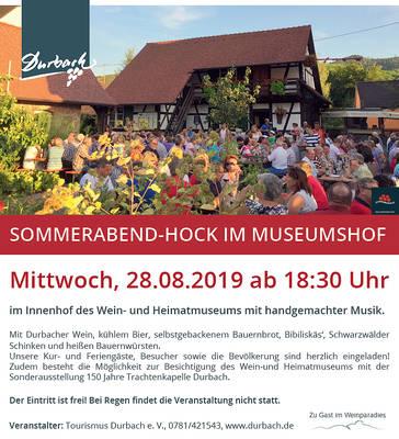 - ABGESAGT - Sommerabend-Hock im Museumshof