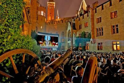 Open Air-Kino auf der Burg Hohenzollern