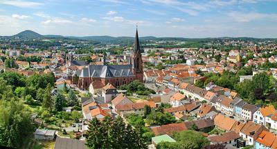 Biosphärenstadt St. Ingbert von oben. (© Stadt St. Ingbert, Michael Haßdenteufel)