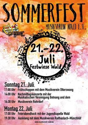 Bezirksmusikfest - 150 Jahre MV Wald