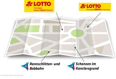 Karte mit Sportstätten. (© Julien Eichinger  fotolia.com)
