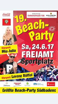 Beach Party SC Freiamt