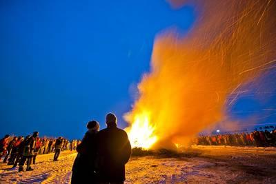 Biikebrennen an der Nordsee. (© Foto Oliver Franke)