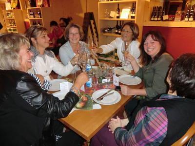 Frauenweinprobe im Weingut A. Huber