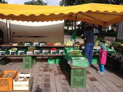 Wochenmarkt in Münsingen