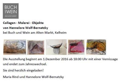 Collagen - Malerei - Objekte von Hannelore Wolf-Bernatzky