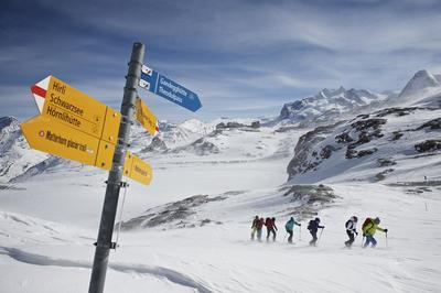 Excursion en raquettes Matterhorn glacier trail