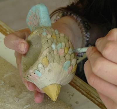 Kunstwerkstatt - Töpfern für Grundschüler. (© Kunstwerkstatt Kolleg St. Blasien)