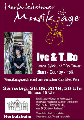 Herbolzheimer Musiktage Ive & T.Bo - Blues, Country, Folk