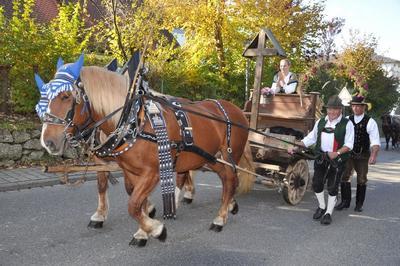 Leonhardi-Ritt mit Pferdesegnung in Breitbrunn