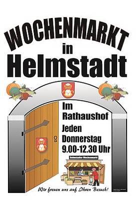 Der Wochenmarkt in Helmstadt-Bargen. (© Gemeinde Helmstadt-Bargen)