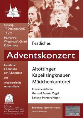Festliches Adventskonzert - Altttinger Kapellsingknaben und Mdchenkantorei