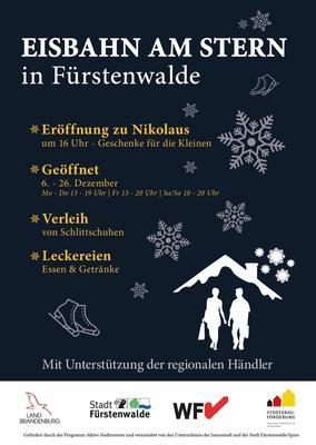 Plakat Eisbahn am Stern, Foto Planergemeinschaft für Stadt und Raum eG