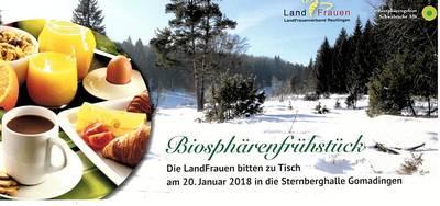 Biosphärenfrühstück Die Landfrauen bitten zu Tisch