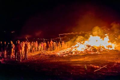Fasnachtsfeuer auf dem Gupfen. (© Klaus Hansen)