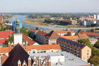 Blick von oben auf Frankfurt Oder, Seenland Oder-Spree e.V., Florian LÃufer