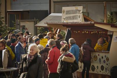 Adventshtte im Radolfzeller Adventsdorf. (© Tourismus- und Stadtmarketing Radolfzell GmbH)
