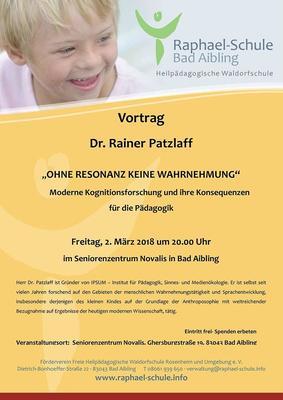 Ohne Resonanz keine Wahrnehmung - moderne Kognitionsforschung Dr. Rainer Patzlaff