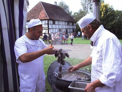 Traditionelle Schlachtfest