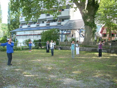 Qigong am See in Wangen