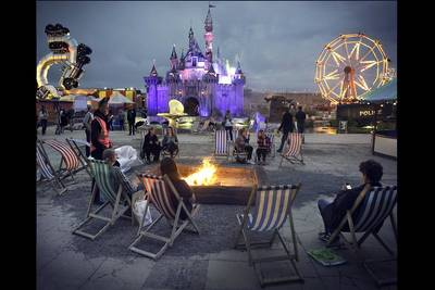 Burning Archers Books - Dismaland. (© Barry Cawston)