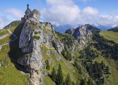 Aussichtsgipfel rund um das Wildalpjoch 1.720 m, gelenkschonende Bergwanderung ohne Talabstieg