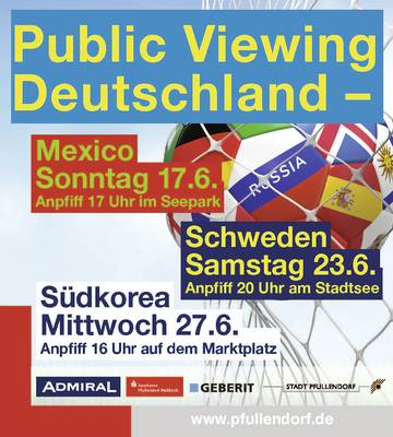 Fußball live - Public Viewing am Stadtsee