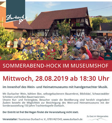 Bild - ABGESAGT - Sommerabend-Hock im Museumshof