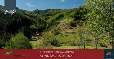 - VERSCHOBEN AUF 15.08.2021 - 2. Gebirger Höfe-Wandertag