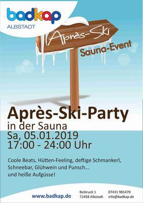 Après Ski-Party in der Sauna