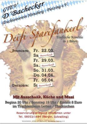 Theaterauffhrung Deifi Sparifankerl