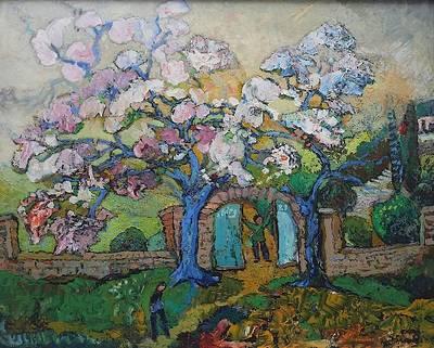 Kunstausstellung mit Bildern des Malers Otto Birg im Gernsbacher Rathaus