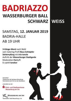 BADRIAZZO - Wasserburger Ball Schwarz Weiss