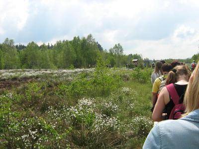Geführte Wanderung entlang des Dorfes Dobra zum Säumermoor