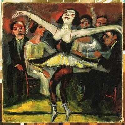 Max Pechstein, Tänzerin in einer Bar, 1923 31, Privatbesitz. (©  2019 Pechstein  HamburgTökendorf)
