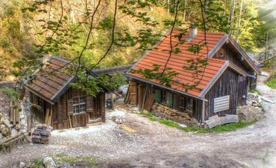 Vorführung Wetzsteinmühle in der Schleifmühlklamm