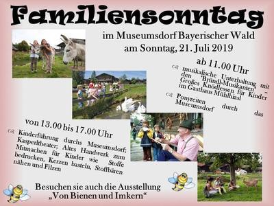Familiensonntag im Museumsdorf Bayerischer Wald