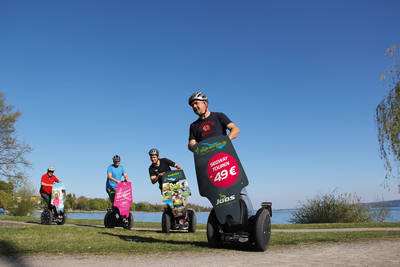 Segway Tour am Seeufer. (© Zweirad Joos Events Bodensee)