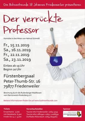 Veranstaltungsplakat der Bühnenfreunde St. Johannes Friedenweiler. (© Michael Schwörer)