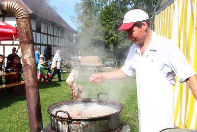 Traditionelles Schlachtfest