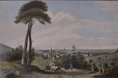Ludwig Hoffmeister 1814-1869, Ettlingen, Stahlstich, um 1860. (© Museum Ettlingen)