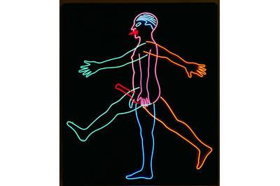 Bruce Nauman, Marching Man, 1985. ©  Hamburger Kunsthalle  bpk  VG Bild-Kunst,