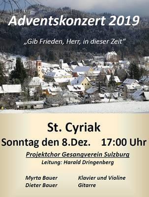 Adventskonzert in St. Cyriak des Gesangverein Sulzburg