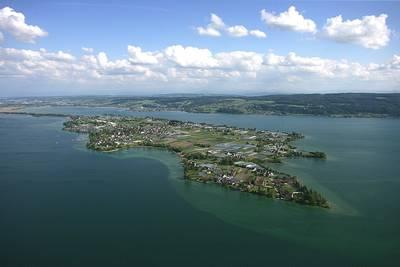 Luftbild Insel Reichenau. (© Foto Achim Mende)