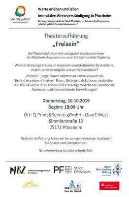 Interner Link zur Veranstaltung: Frei sein