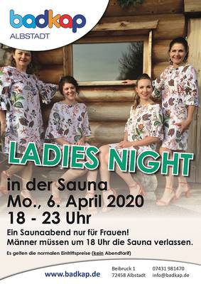 !!ABSAGE!! Ladies-Night in der Sauna